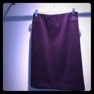 J Jill Ponte Knit Pencil Skirt